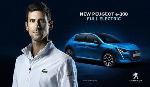 Peugeot apuesta por los motores híbridos y eléctricos y elige a Djokovic para promocionarlos