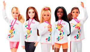 Barbie se une a las filas de Tokio 2020 con una colección de muñecas deportistas