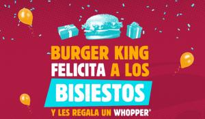 Burger King regala un Whopper a todos los que cumplen años el 29 de febrero