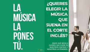 Los seguidores de El Corte Inglés eligen las canciones que quieren que suenen en sus centros
