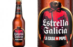 Estrella Galicia lanza unas botellas de edición especial de La casa de papel