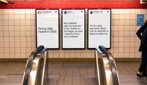 Twitter inunda el metro con tuits reales sobre las relaciones con motivo de San Valentín