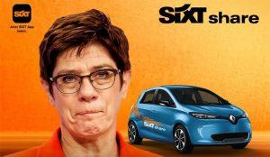 Sixt hace sangre en un anuncio de la renuncia de la favorita para suceder a Angela Merkel