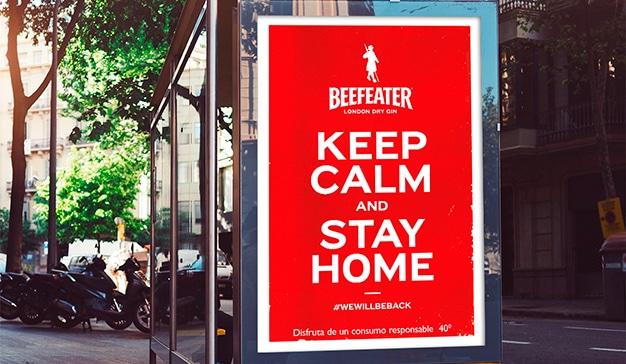 Beefeater resucita el espíritu de Churchill para llamar a la calma y pedir a los ciudadanos que se queden en casa