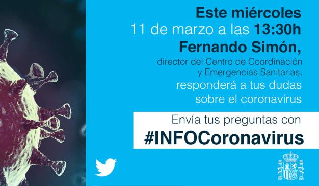 Twitter pone su plataforma a disposición de los ciudadanos para resolver sus dudas con el hashtag #INFOCoronavirus