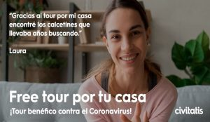 Free Tour benéfico por tu casa para combatir el coronavirus