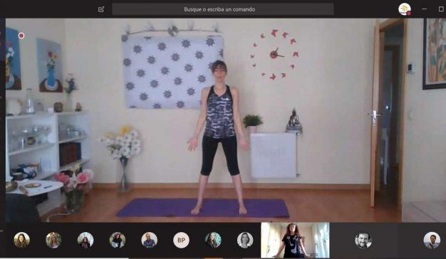 #HealthAtHome, un programa de yoga en casa y otras actividades para empleados que teletrabajan
