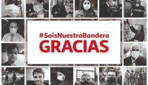Alcampo lanza la campaña #SoisNuestraBandera en homenaje a quienes luchan contra el coronavirus