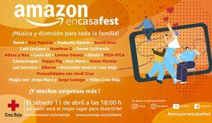 Amazon presenta #AmazonEnCasaFest, un festival familiar para recaudar fondos a beneficio del plan Cruz Roja RESPONDE contra el COVID-19