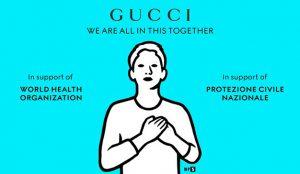 Gucci hace uso de sus habilidades en creación de memes para comunicar la lucha contra el Covid-19