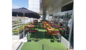 Las terrazas de Beer&Food, preparadas para su apertura
