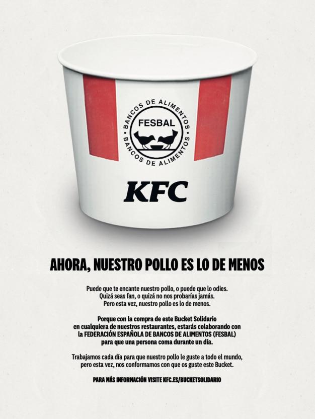 Bucket Solidario de KFC