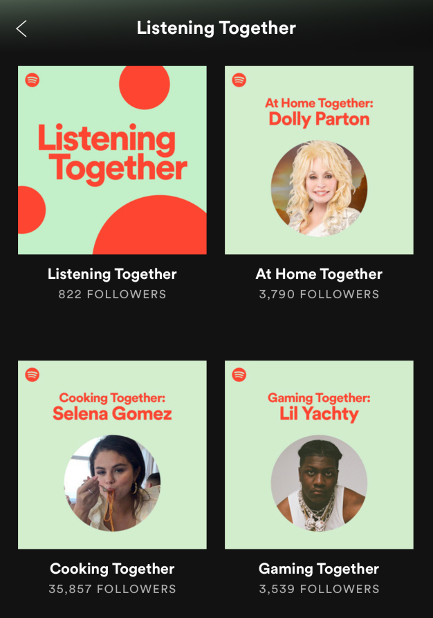 listening together selena
