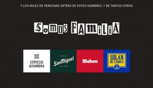 Mahou-San Miguel lanza la campaña #SOMOSFAMILIA