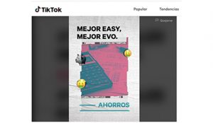 EVO Banco vuelve a romper las reglas, esta vez pasándose a Tik Tok