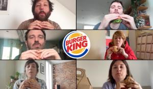 Burger King Francia celebra su reapertura progresiva con los actores de sus últimos spots