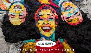 COVID-19: Old Navy o cómo hacer arte (alucinante) usando la ropa como materia prima