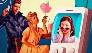 Cuando la publicidad de productos ultramodernos adopta una deliciosa estética retro