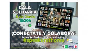 Eventeas anuncia la Gala Solidaria como guinda del pastel a la iniciativa solidaria #speakerathome