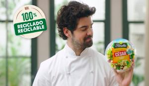 Miguel Ángel Muñoz protagoniza el nuevo spot de las Ensaladas Completas con envase 100% reciclado y reciclable de Florette