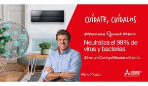Mario Picazo colabora con Mitsubishi Electric en la nueva campaña para el Mitsubishi Plasma Quad Plus