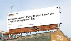 Twitter apuesta por la publicidad exterior para alzar la voz contra la injusticia racial