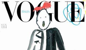 El último número de Vogue Italia lleva a su portada simpáticos dibujos garabateados por niños