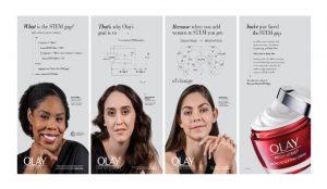 La nueva campaña de Olay utiliza fórmulas científicas para explicar la brecha de género en STEM