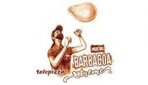 Telepizza promociona su nueva pizza con retratos pintados con salsa barbacoa