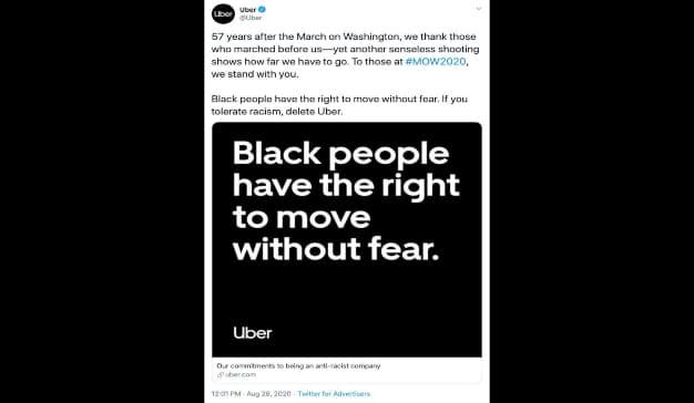 uber black lives matter