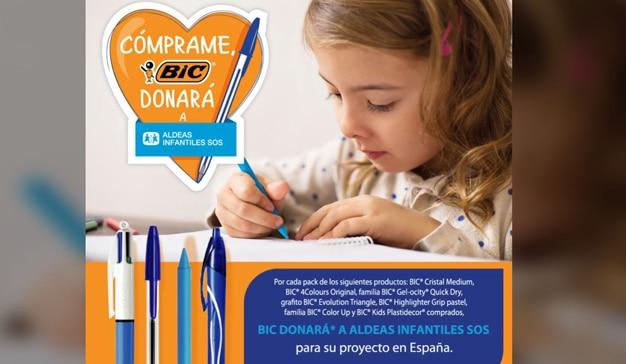 BIC donará 20.000€ a Aldeas Infantiles SOS