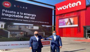 Worten y EDP, unidos para comercializar instalaciones fotovoltaicas en España