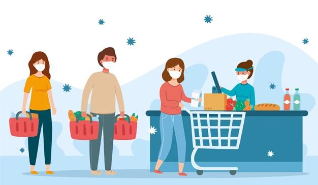 Operación despensa en los supermercados españoles