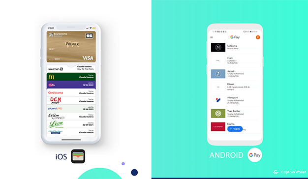 Los mobile wallets Apple Wallet y Google Pay
