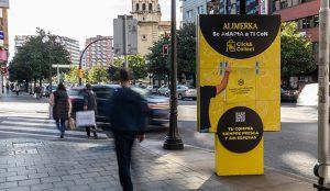 JCDecaux activa una campaña de exterior para promocionar 'Click&Collect', el servicio de recogida de alimentos de Alimerka