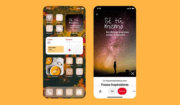 Pinterest lanza un nuevo widget para personalizar los iOS