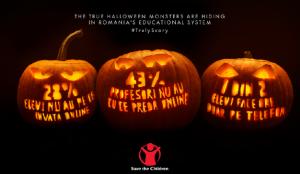 La campaña de Halloween de Save the Children Rumanía presenta unos monstruos muy reales a los que se enfrentan los niños
