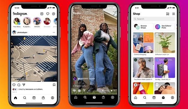 Instagram renueva su diseño por los reels y las compras