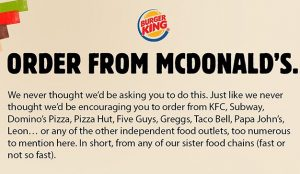 Burger King hace lo impensable: anima a sus fans a pedir comida en McDonald's