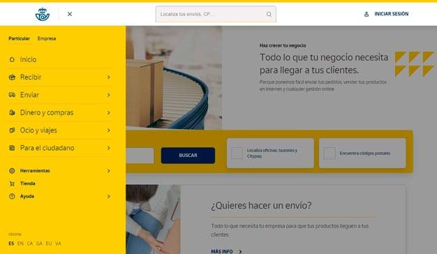 Correos renueva su página web para mejorar y facilitar la experiencia de usuario