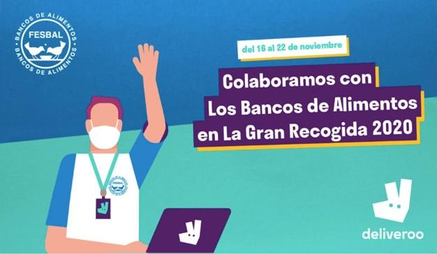 Deliveroo habilita un restaurante virtual para hacer donaciones a la Federación Española de Bancos de Alimentos