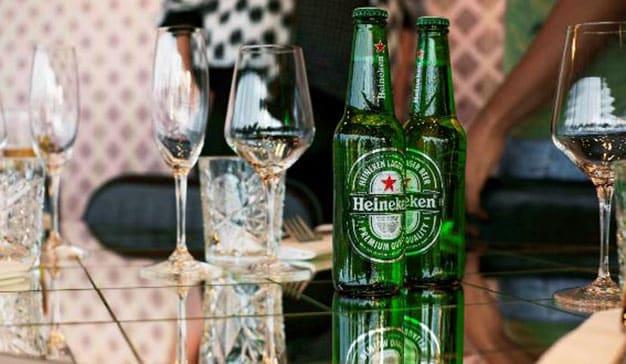 heineken botella verde