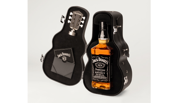 Nuevo packaging de Jack Daniel's en forma de guitarra