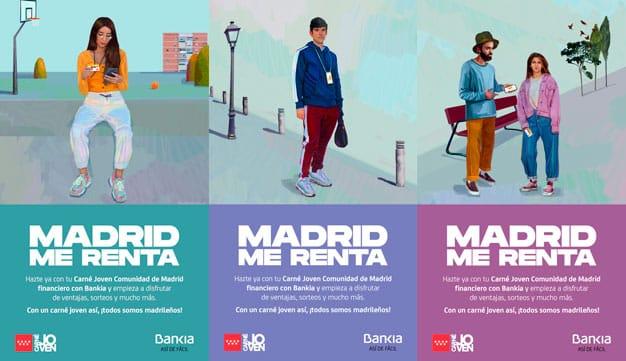 """Bankia presenta el carné joven de la Comunidad de Madrid con """"Madrid Me Renta"""""""