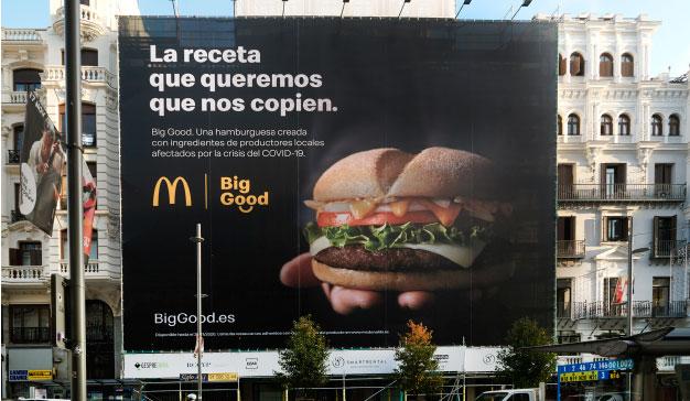 McDonald's lanza un mensaje a otras grandes marcas con motivo de la creación de Big Good