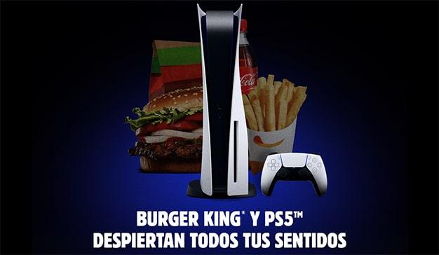 menus ps5 playstation y burger king