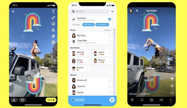 Snapchat lanza Spotlight, un clon de TikTok con suculentas recompensas para los creadores