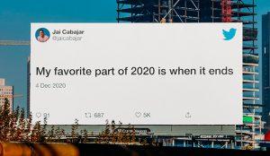 Twitter enseña qué tuitearon sus usuarios sobre 2020 a través de vallas publicitarias