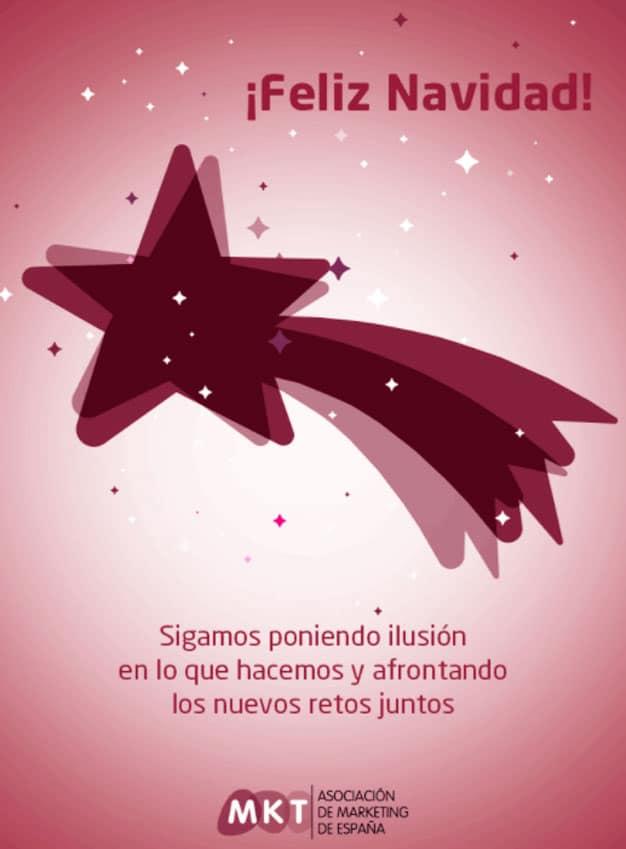 felicitación de Navidad de la Asociación de Marketing de España