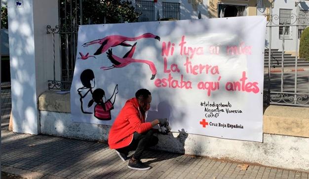 cruz roja córdoba murales calles racismo